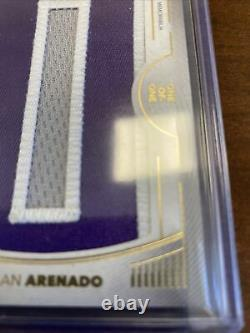 2021 Topps Definitive Nolan Arenado 1/1 Game Used Patch Nameplate Relic