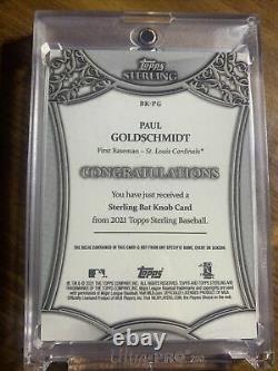 2021 Topps Sterling Paul Goldschmidt 1/1 Game Used Bat Knob RARE