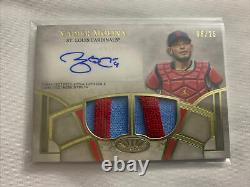2021 Topps Tier One Yadier Molina Dual Patch Auto 6/25 Game Used Autograph Card