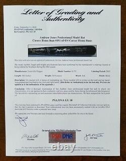 ANDRUW JONES 2003 Autographed Game Used HOME RUN Braves MLB Bat PSA Perfect GU10