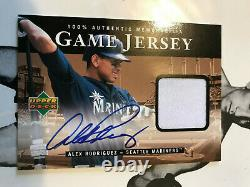 Alex Rodriguez signed 2000 Upper Deck Game Used Jersey Auto autograph H-AR COA