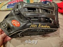 Alex escobar Game Used Rawlings Baseball OF Glove mets venezuelen mlb pro302 6jb