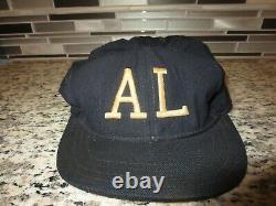 American League AL MLB UMPIRE 1940s Game Used Worn New Era Baseball Cap Hat