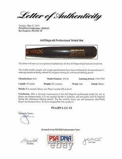 Astros Jeff Bagwell 1998-1999 Game Used Stix Bat Graded GU 10! PSA/DNA #1B05343