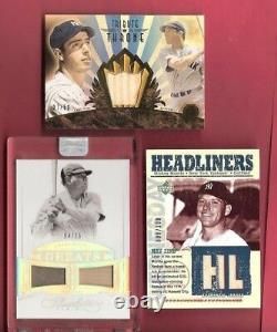 BABE RUTH FLAWLESS JERSEY 4/25 MICKEY MANTLE JSY Joe Dimaggio GAME USED BAT CARD