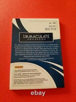 BABE RUTH GAME USED BAT CARD #d7/7 2020 IMMACULATE NEW YORK YANKEES
