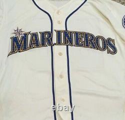 BATBOY #BB size 44 2019 Mariners MARINEROS Home Cream game used JERSEY MLB HOLO