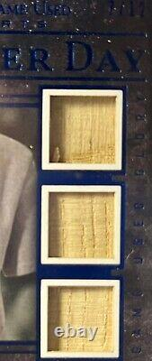 Babe Ruth 2020 Leaf In The Game Used Triple Game Used Bat card Career Day 7/12