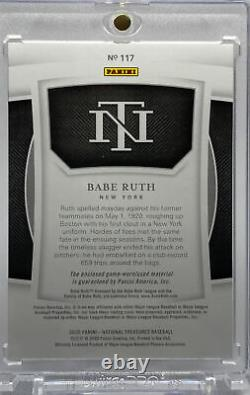 Babe Ruth 2020 National Treasures Game Materials Game-Worn/Used Jersey #20/25