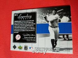 Babe Ruth Game Used Bat Card 2000 Upper Deck Legendary Lumber New York Yankees