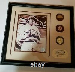 Babe Ruth Game Used Bat Piece + 8 X 10 Photo With Coa Matted & Framed 16 X 18 In