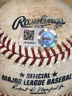 Buster Posey Single + Double Career Hits #924+925 Game-used Mlb Baseballs Giants
