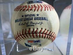 CLAYTON KERSHAW Game Used SIGNED Baseball Dodgers 9/8/15 MLB PSA Authentication