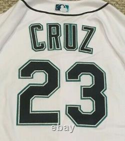 CRUZ size 50 #23 2017 Seattle Mariners game used jersey home white 50th MLB HOLO