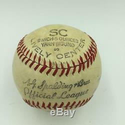 Cecil Travis World War 2 Signed Inscribed Game Used Championship Baseball JSA