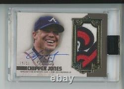 Chipper Jones Auto Game-used Jersey Braves Logo Patch /10 2019 Topps Dynasty Sp