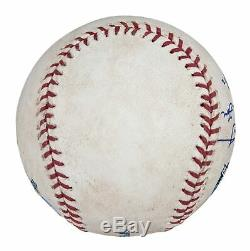 Chipper Jones Signed Game Used Baseball From His Final Career Game 2012 PSA DNA
