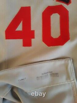 Cleveland Indians Bud Black 1990 Game Used Jersey Chief Wahoo Rockies
