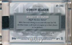 Corey Seager 1/1 Auto 2017 Topps Dynasty Game Used Rookie Jersey MAJESTIC Relic