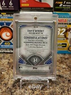 David Wright Rare Game Worn Mlb Logo Laundry Tag Patch /10 Ssp New York Mets