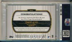 Derek Jeter 1/1 Game Used Bat Nameplate Barrel Relic 2014 Topps Tribute PSA 9