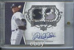 Derek Jeter 12/25 Game Used Patch Emblems Auto 2006 Exquisite