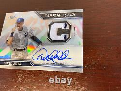 Derek Jeter Captains Cloth Auto 2021 Topps Chrome Game Used Patch Goat! #22/99
