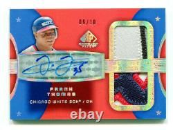 FRANK THOMAS 2004 UD Upper Deck SP Game Used All-Star Auto Dual Jersey Patch /10