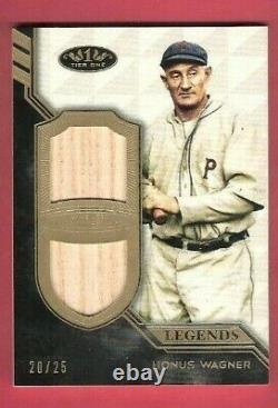 HONUS WAGNER 2 GAME USED BAT CARD #d10/25 2018 TOPPS TIER 1 PITTSBURGH PIRATES