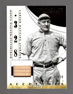 Honus Wagner 2014 Immaculate Collection Accolades GAME-USED BAT RELIC #7/20