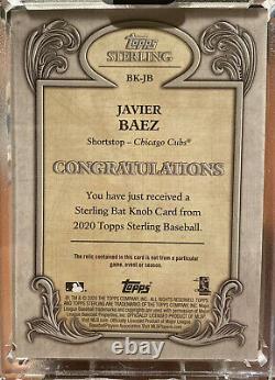 JAVIER Javy BAEZ 2020 Topps Sterling 1/1 BAT KNOB Game Used True 1-of-1 Cubs