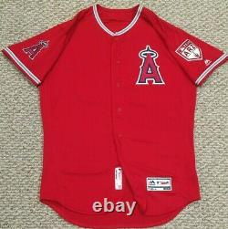 JEREZ size 44 #36 SPRING 2019 LOS ANGELES ANGELS GAME USED JERSEY FREEWAY MLB