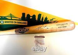 JSA WPP Matt Olson Game Used Baseball Bat Oakland Athletics A's Signed Autograph
