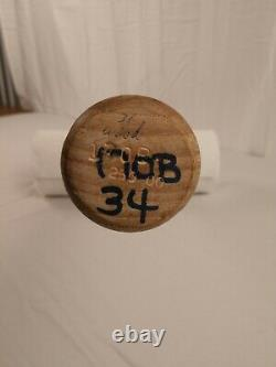 Kerry Wood Chicago Cubs 2000 Game-Used Uncracked Rawlings Blue-Ring Baseball Bat