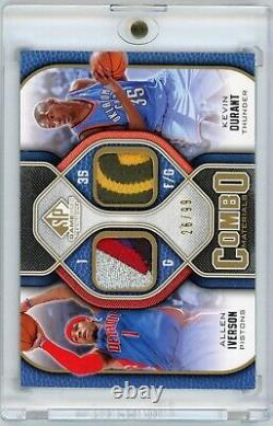 Kevin Durant Allen Iverson 2009-10 Sp Game Used Patch /99 Kd Is Rookie Patch