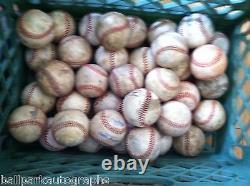 Lot of 32 Well Used Baseballs Little League Batting Fielding Practice Hard Balls