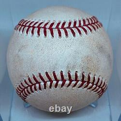 Luis Robert Double White Sox Vs Cubs 2020 Spring Training Mlb Game Used Baseball