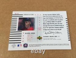 MJ-SS Michael Jordan 2002 Upper Deck Game Worn Flashbacks Game Used Jersey Card