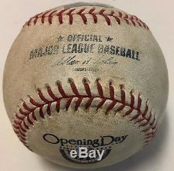 Mariano Rivera Last Opening Day Game Used Baseball Red Sox Vs Yankees 2013 MLB