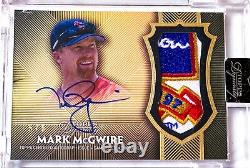 Mark McGwire Cardinals 2017 Topps Dynasty Game Used Patch Auto 5/5
