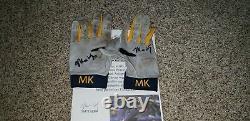 Matt Kemp Atlanta Braves Game Used Autograph Batting Gloves Mlb All Star