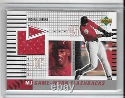 Michael Jordan 2002 Upper Deck Game Worn Flashbacks Game Jersey