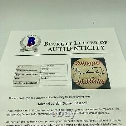 Michael Jordan Rookie Signed 1994 Minor League Game Used Baseball Beckett COA