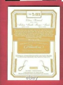 Mickey Mantle Roger Maris Elston Howard 3 Game Used Bat Jersey Card #20 Flawless