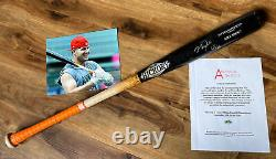 Mike Trout GAME USED 2019 MVP UNCRACKED BAT SIGNED PSA/DNA Anderson Photo Match