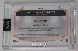 NOLAN ARENADO GAME-USED PATCH AUTO 4/5 2020 Topps Dynasty Home Run Streak