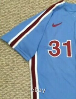 PHELPS #31 size 46 2020 PHILADELPHIA PHILLIES Home RETRO Game used Jersey MLB