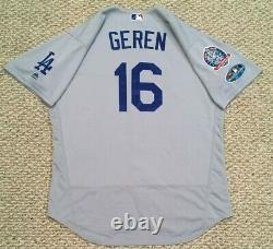 POSTSEASON GEREN size 48 #16 2018 LOS ANGELES DODGERS game used jersey MLB HOLO