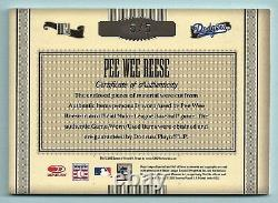 Pee Wee Reese 2005 Timeless Treasures Hof Game Used Jersey Bat Cut Autograph 5/5