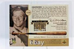 RARE 1999 UD A Piece of History 500 Club MICKEY MANTLE Game Used Bat /350